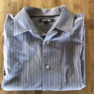 APT 9 Men's Button Down Shirt Medium Purple/Gray